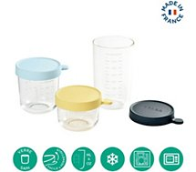 Pot de conservation Beaba  3 verres 150ml + 250ml + 400ml
