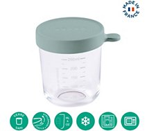 Pot de conservation Beaba  verre 250ml eucalyptus green