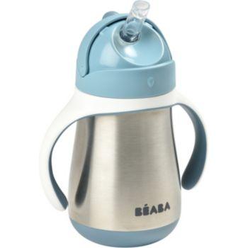 Beaba paille inox 250 ml - Windy blue