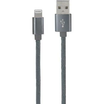 Metronic Câble lightning MFI nylon mâle/ USB-A mâ