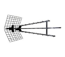 Antenne extérieure Metronic  Antenne trinappe amplifiée 57 dB avec fi