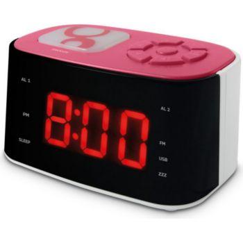 Metronic Radio réveil veilleuse Gulli - rose