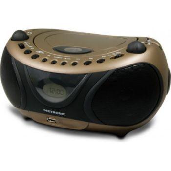 Metronic Radio CD-MP3 FM Copper & Black avec port