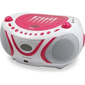 Radio CD Metronic Radio CD-MP3 USB FM Pop Pink - rose et b