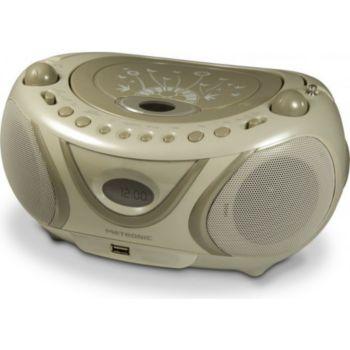 Metronic Radio CD-MP3 USB FM Soft Grey - gris