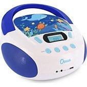 Radio CD Metronic Radio CD enfant style Ocean- bleu et bla