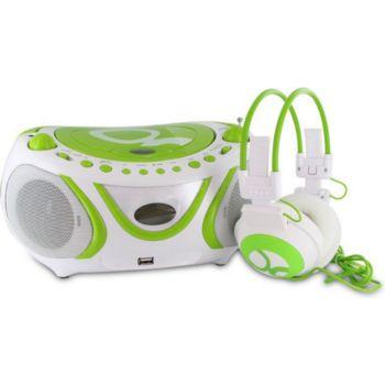 Metronic Radio CD-MP3 + casque Gulli vert