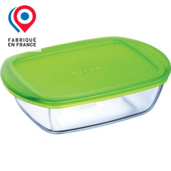 pyrex plat en verre couvercle plastique 2 6l accessoire four et micro ondes boulanger. Black Bedroom Furniture Sets. Home Design Ideas
