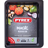 Plaque de cuisson Pyrex rect métal 30x23 cm Magic