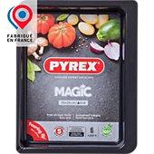 Plaque de cuisson Pyrex rect métal 35x26 cm Magic