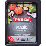 Plaque de cuisson Pyrex  rect métal 35x26 cm Magic