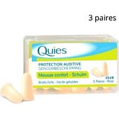 Bouchons anti-bruit Quies Bouchons en Mousse Quies 3 paires