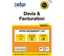 Logiciel de gestion EBP  Devis & Facturation DYNAMIC 12 mois +VIP