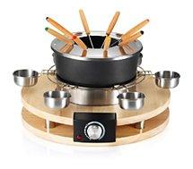 Fondue Kitchen Chef  8 personnes base en bois