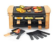 Raclette Kitchen Chef  KCWOOD.6 personnes