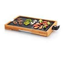 Plancha électrique Kitchen Chef  de table Bambou