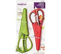 Ciseaux à herbes Mastrad  X2 multifonctions rouge et herbes v