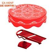 Cuit chips Mastrad rouge 1 mandoline + 2 plateaux