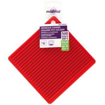 Mastrad carree en silicone rouge