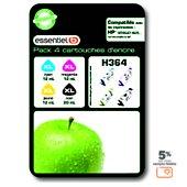 Cartouche d'encre Essentielb H364 XL 4 couleurs Série pomme