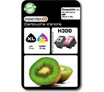 Cartouche d'encre Essentielb  Pack H300 XL Noir + Couleurs Série Kiwi