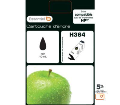 Cartouche d'encre Essentielb H364 Noire Série Pomme