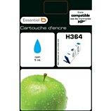 Cartouche d'encre Essentielb  H364 Cyan Série Pomme