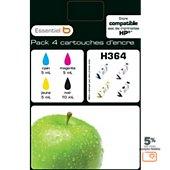 Cartouche d'encre Essentielb H364  Noir + couleurs Série Pomme