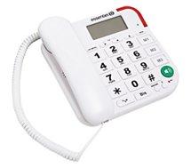 Téléphone filaire Essentielb OPALE Blanc
