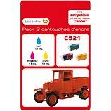 Cartouche d'encre Essentielb  C521 C/M/J Série Camion