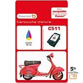 Cartouche d'encre Essentielb C511 C/M/J Série Scooter