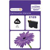 Cartouche d'encre Essentielb E129 Noire Série Fleur