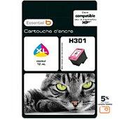Cartouche d'encre Essentielb H301XL C/M/J Série Chat