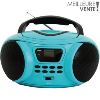 essentielb rumba usb bleu radio cd boulanger. Black Bedroom Furniture Sets. Home Design Ideas