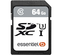 Carte SD Essentielb 64Go SDXC Performances