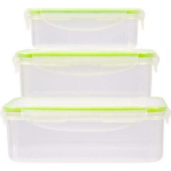 Essentielb 3 boîtes plastiques rectangles