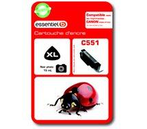 Cartouche d'encre Essentielb  C551 XL Noire Photo - Série Coccinelle