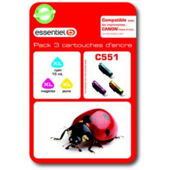 Essentielb C551 XL 3couleurs - Série Coccinelle