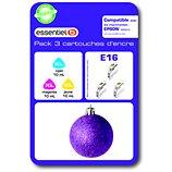 Cartouche d'encre Essentielb  E16 XL 3couleurs- Série Boule de Noel