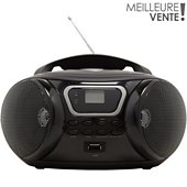 Radio CD Essentielb Rumba USB MP3 Noir