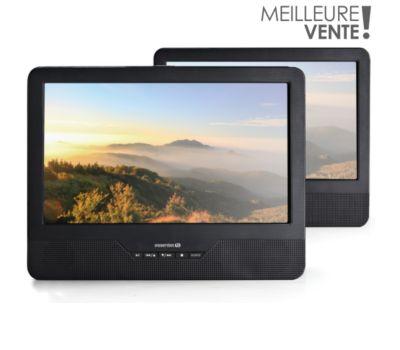 Lecteur DVD portable double écran Essentielb Mobili MS9 + Support Voiture