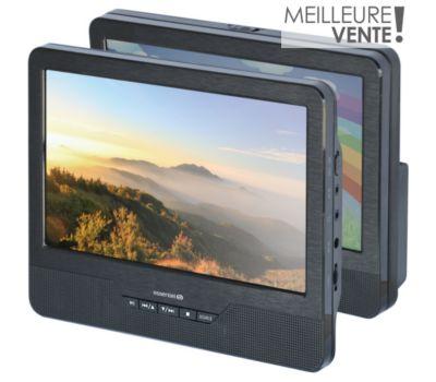 Lecteur DVD portable double écran Essentielb Mobili MM9 + Support Voiture