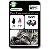 Cartouche d'encre Essentielb H301 Noir + couleurs Série Chat
