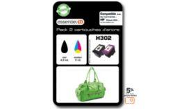 Cartouche d'encre Essentielb H302 Noir + couleurs Série Sac à mains