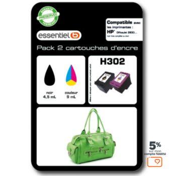 Essentielb H302 Noir + couleurs Série Sac à mains