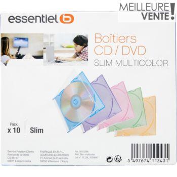 Essentielb 10 Boîtes CD slim couleur