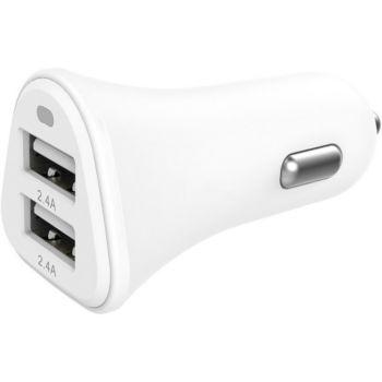 Essentielb 2 USB 4,8A blanc