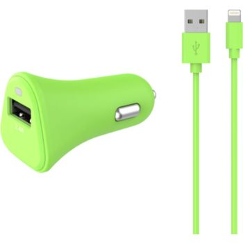 Essentielb USB 2,4A + Cable lightning vert