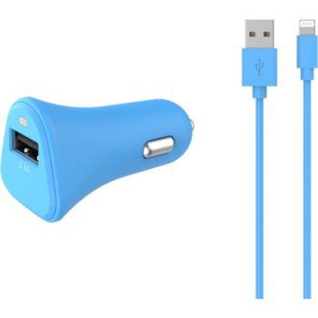 Essentielb USB 2,4A + Cable lightning bleu