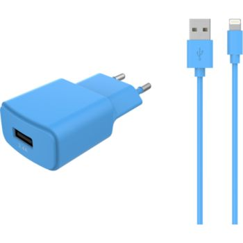 Essentielb USB 2,4A + Cable lightning bleu